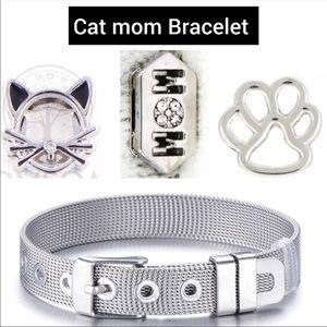 Cat Mom Charm Bracelet